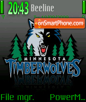 Timberwolves theme screenshot