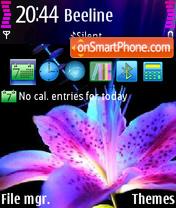 Purple Flower 01 es el tema de pantalla