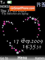 Capture d'écran Swf Clock Diamond thème