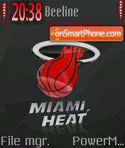 Miami Heat theme screenshot