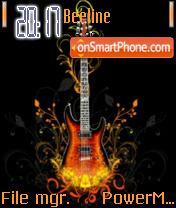 Music Guitar 01 es el tema de pantalla