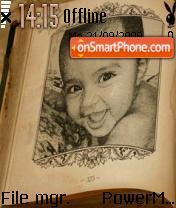Cute baby es el tema de pantalla