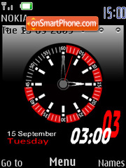 Capture d'écran Metal Clock thème