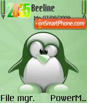 Green Penguin theme screenshot