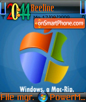 Mac And Windows theme screenshot