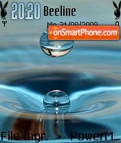Water Drop 02 es el tema de pantalla