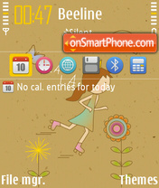 Skating M theme screenshot