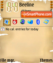 Oldpaper 01 es el tema de pantalla