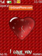 Heart clock Flash theme screenshot
