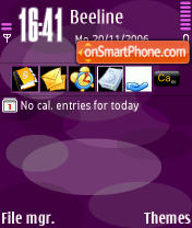 Nokia Violet tema screenshot