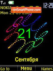 Clock $ date animated theme screenshot
