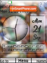 Swf clock stone es el tema de pantalla