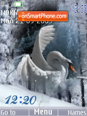 Swf swan animated tema screenshot