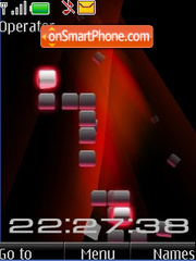 Flash animated clock theme screenshot