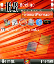 Vista Red theme screenshot