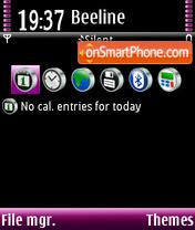 Скриншот темы Purple & Black
