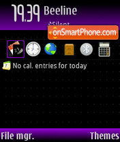 Скриншот темы Purple evil