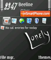 Lonely 08 theme screenshot