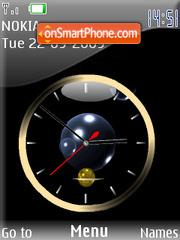 Скриншот темы Swf Clock Animated Balls