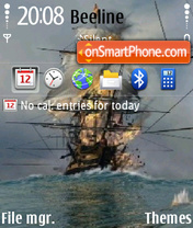 Naval War theme screenshot