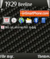 Скриншот темы Carbon 06