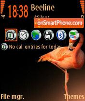 Flamingo 01 es el tema de pantalla