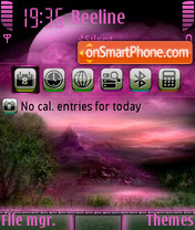Purpleland landscape theme screenshot