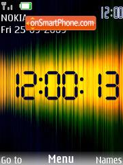 Green Swf Clock theme screenshot