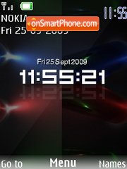 Colour Swf Clock theme screenshot