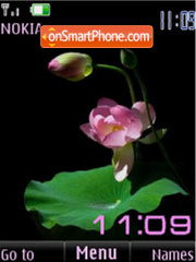 Lotus flash slide clock tema screenshot