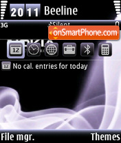 Nokia Haze 01 tema screenshot