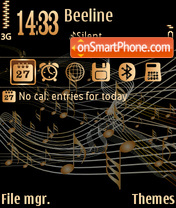 Vector music theme screenshot