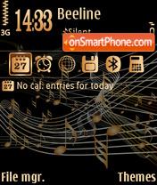 Скриншот темы Vector music