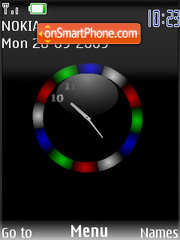 Swf colour clock tema screenshot