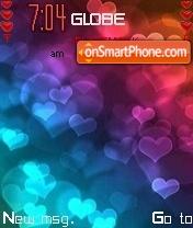 Neon Hearts 01 theme screenshot