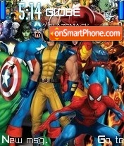 Marvel Superheroes theme screenshot