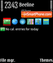 Serene black toma icons theme screenshot