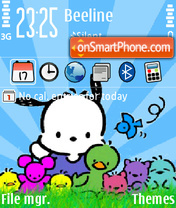 Little friends tema screenshot