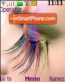Rainbow Eyelashes es el tema de pantalla