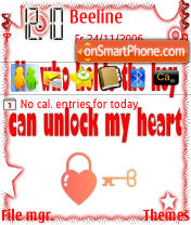 Capture d'écran Key to My Heart thème