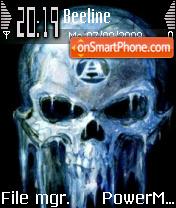 Ice Skull theme screenshot