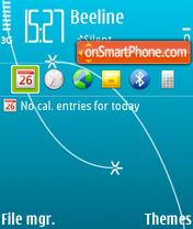 S60 blue 02 es el tema de pantalla