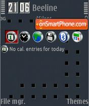 Скриншот темы Night Red Dots