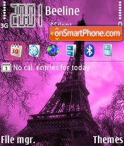 Paris Tower theme screenshot