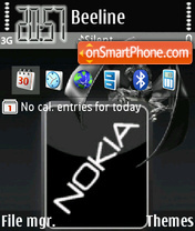 Nokia Gloss theme screenshot