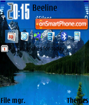 Lake and Mountains es el tema de pantalla