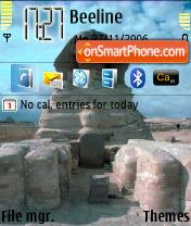 Egyptians Sphinx theme screenshot