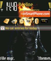 Скриншот темы Ghost Rider