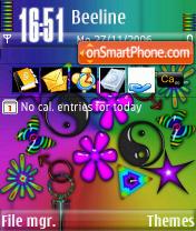 Hippy Love theme screenshot