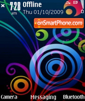 Abstract Colors tema screenshot